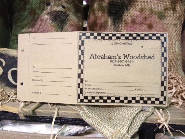 Gift Certificates & Holders
