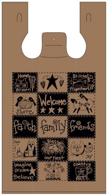 Faith-Family-Friends Plastic Bags