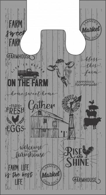 Farm Life Design Plastic Bags