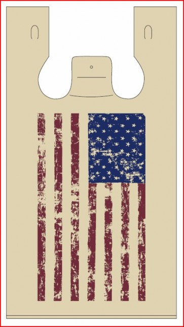 American Flag Plastic Bag