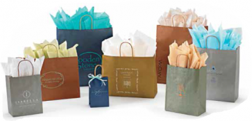 MetallicTints on Kraft Shopping Bags