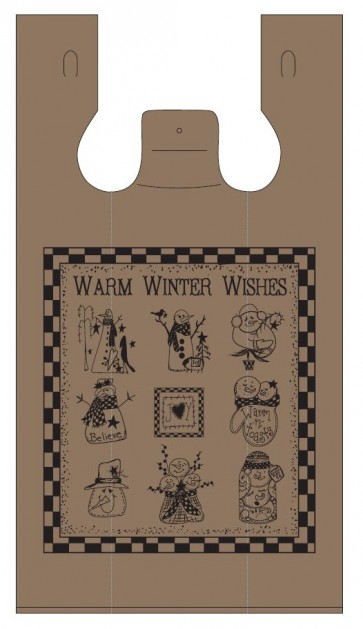 Winter Wishes Plastic Bag