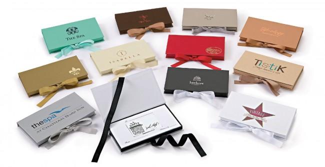 gift card boxes platform custom certificates box business folding paper packaging