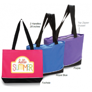 Zipper Shoulder Tote Bag