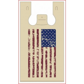 American Flag Plastic Bag
