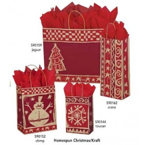 Homespun Christmas Shopping Bags