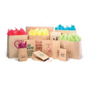 Custom Natural Kraft Shoppers