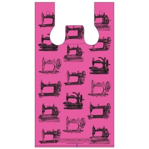 Pink Sewing Machines Plastic Bags