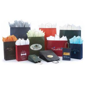Tints on Kraft Shopping Bags