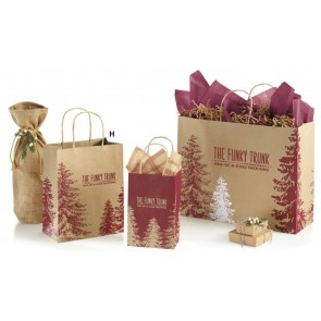 Winter Trees Shopping Bags